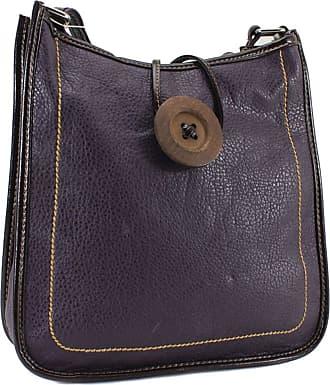 Your Dezire Womens Ladies Faux Leather Button Cross Body Messenger Bag Women Shoulder Tote Satchel Handbag Purple
