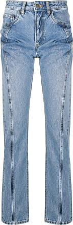 Y / Project high-rise straight leg jeans - Azul