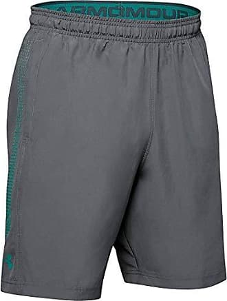 Under Armour Men/'s Woven Graphic Shorts Black//Grey Heather M