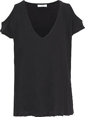 Iro Iro Woman Kahys Cold-shoulder Cotton And Silk-blend Jersey T-shirt Black Size XS