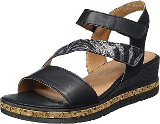 Remonte Womens D3054 Ankle Strap Sandals, Black (Schwarz/Schwarz 01), 6.5 UK