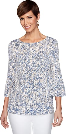Womens Arabesque Ombre Puff Print Top Ruby Rd