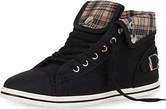 Scarpe Vita Women Sneaker high Checked Buckle 165077 Black UK 3.5 EU 36