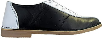 Ikon Original Mens Marriott Mod 60s 70s Leather Bowling Shoe Black/White 10 UK/44 EU