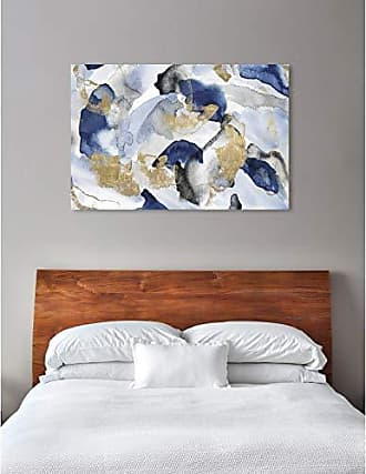 The Oliver Gal Artist Co. The Oliver Gal Artist Co. Abstract Wall Art Canvas Prints Head in The Clouds Home Décor, 60 x 40, Blue, Gold
