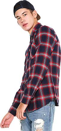 Red Nose Camisa Red Nose Xadrez Flanelada Vermelha/Azul-marinho