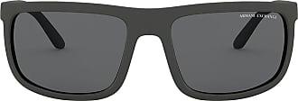A|X Armani Exchange Óculos de sol retangular - Cinza