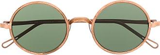 Uma Wang x Rigards small round-frame sunglasses - Brown