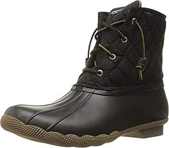 Sperry Top-Sider Sperry Womens Saltwater Rain Boot, Black Quilted, 7.5 Medium