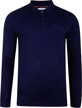 Lambretta Mens Long Sleeve Casual Smart Jersey Shirt XL Navy