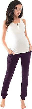 Purpless Maternity Pregnancy Over Bump Support Joggers Comfortable Trousers for Pregnant Women 1307 (8, Plum)