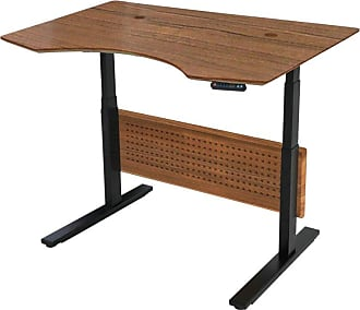 Unique Furniture Prestige Sit-Stand Collection Electric 51 in. Adjustable Standing Desk Espresso - 75137-ESP