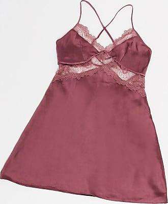 Hunkemöller lace side satin chemise in pink
