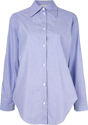 Nina Ricci Camisa lisa com botões - Azul