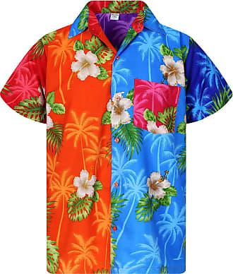 V.H.O. Funky Hawaiian Shirt, Shortsleeve, Mondy SmallFlower, Multicoloured, 6XL