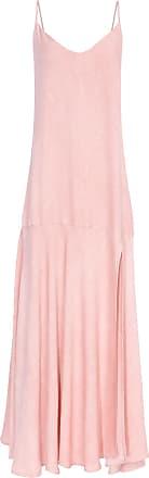 Market 33 Vestido Longo Com Fenda - Rosa