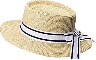 Miuno/® Damen Sonnenhut Partyhut Stroh Hut Schleife H51053