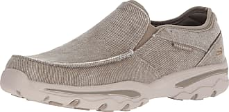 Skechers Mens Relaxed Fit-Creston-Moseco Moccasin, Taupe, 12 M US