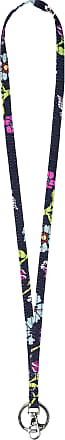 Vera Bradley Womens Recycled Lighten Up ReActive Keyring Lanyard, Itsy Ditsy Floral, One size