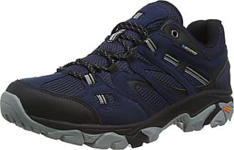 Hi-Tec Mens RAVUS Vent LITE Low Waterproof Walking Shoe, Midnight/Black/Monument