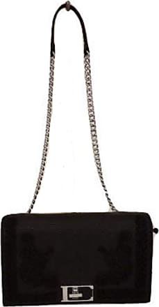 Ermanno Scervino CROSSBODY SUNNY CODE 12400013, FAUX LEATHER POCKET WITH CHAIN SHOULDER STRAP WITH MACRAME, COLOR BLACK, SIZE U
