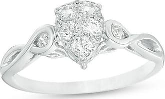 61edb178a434 T.w. Composite Diamond Pear-Shaped Twist Engagement Ring in