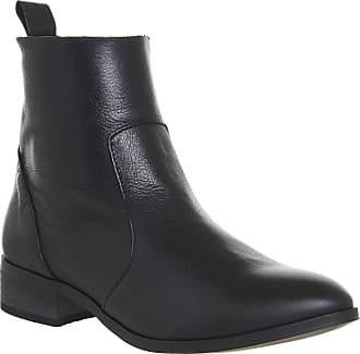 Office Ashleigh Flat Ankle Boots Black Leather - 6 UK