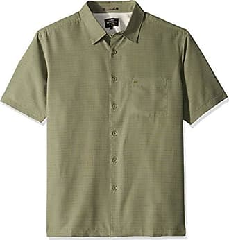 Quiksilver Waterman Mens Centinela 4 Button Down Shirt, Ivy Green, L