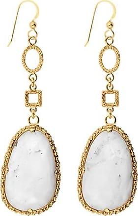 Emma Israelsson Drop White Bronze Earrings