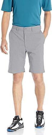 PGA TOUR Short de golf pour homme à devant plat avec ceinture active, gris chiné clair, 42
