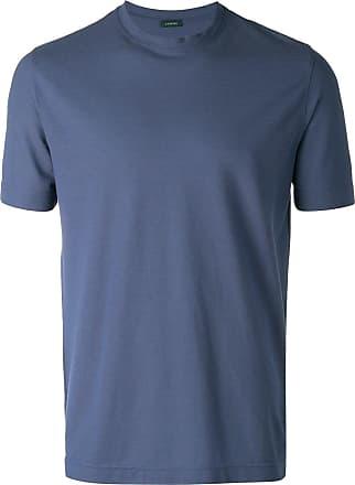 Zanone round neck T-shirt - Azul