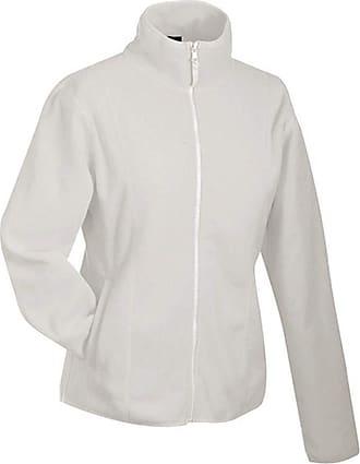 James & Nicholson Womens/Ladies Microfleece Jacket (XL) (Off-White)