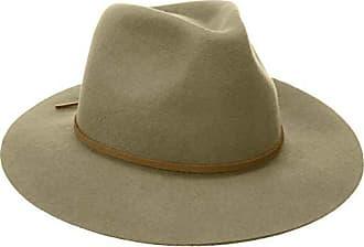 Brixton Mens Wesley Medium Brim Felt Fedora HAT, Elmwood, S