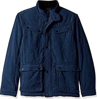 Urban Republic Mens Microfiber/Quilted Fleece Jackets, Blue, XL