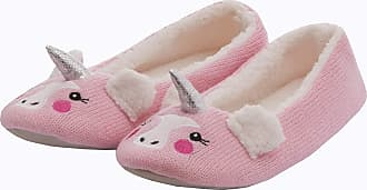Forever Dreaming Ladies Womens Novelty Faux Fur Animal Panda Unicorn Slipper Indoor Textile Sole Pink
