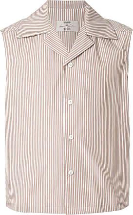 Necessity Sense Camisa listrada sem manga - Marrom