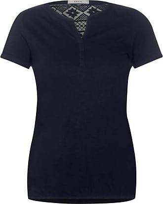 Cecil Shirt mit Spitzenbesatz - deep blue