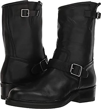 Steve Madden Mens SELF Made Madman Motorcycle Boot, Black Leather, 7 M US