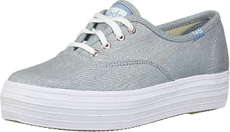 Keds Womens Triple Core Fashion Sneaker, Denim, 8 M US Light Blue