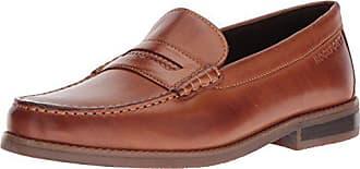 Rockport Mens Cayleb Woven Penny Shoe, cognac, 10.5 M US