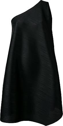 Issey Miyake flared one-shoulder dress - Black