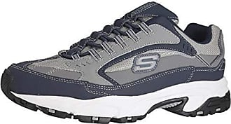 Skechers Mens Stamina Woodmer Loafer, Navy/Gray, 8.5 M US