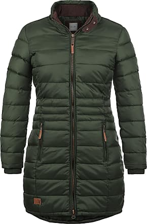 Blend Carlotta Womens Quilted Coat Parka Outdoor Jacket with Funnel Neck, Size:M, Colour:Duffle Bag Green (77019)