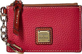 Dooney & Bourke Pebble Zip Top Card Case (Strawberry/Tan Trim) Credit card Wallet