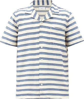 Onia Vacation Striped Shirt - Mens - White Multi
