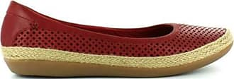 Clarks Ladies Summer Ballerina Flat Shoes Danelly Adira - Red Leather - UK Size 8D - EU Size 42 - US Size 10.5M