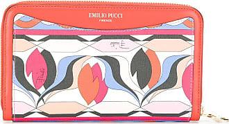 Emilio Pucci Carteira com estampa abstrata - Laranja
