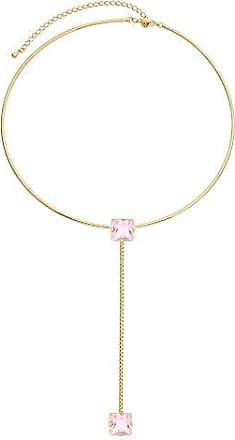 Kitbox Choker Circular com Cristal Rosa Dourada