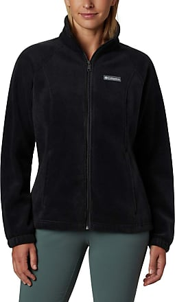 Columbia Womens Plus-Size Benton Springs Fleece Jacket, Black, 2X