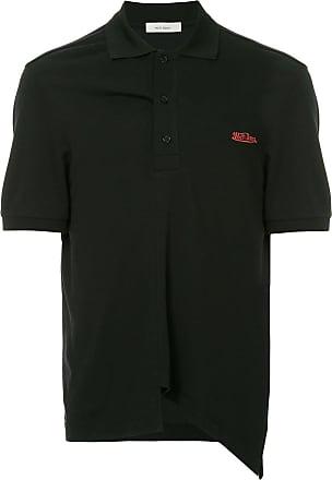 We11done Oversized-Poloshirt - Schwarz